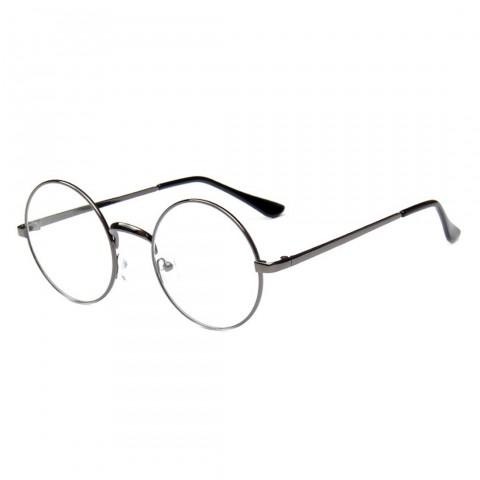 Kerek szemüveg - átlátszó üveg sötét ezüst kerettel - Napszemüvegek ... b16e2d142b