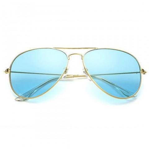 Aviator Style - arany - türkiz színű lencsék