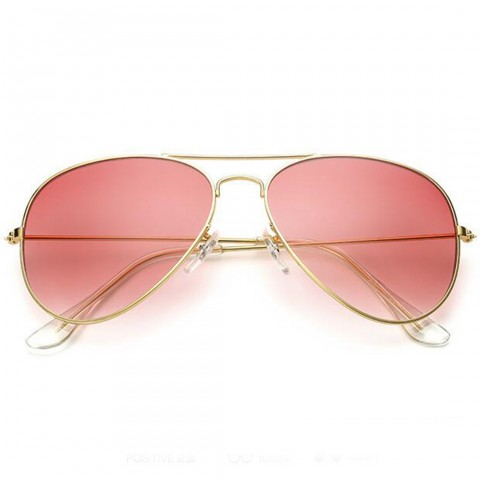 Aviator Style - arany - rózsasin lencsék