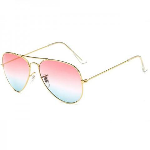 Aviator Style - arany - rózsaszín-kék lencsék