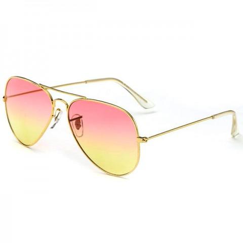 Aviator Style- zlaté - ružovo-žlté sklá