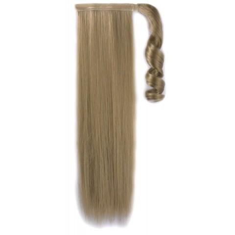 Syntetický clip-in chvost - tmavá blond 50 cm