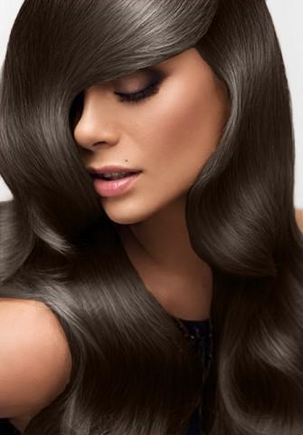 Clip in vlasy deluxe - tmavohnedé - 40 cm