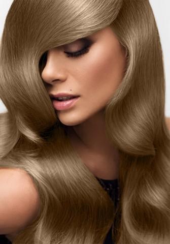 Clip in vlasy deluxe - teplá svetlohnedá - 45 cm