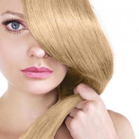 Clip-in vlasy - melír medová blond/platinová blond - 50 cm