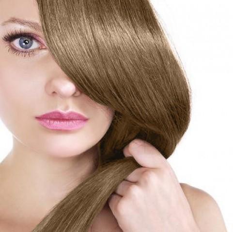 Clip-in vlasy - světlehnědé - 30 cm