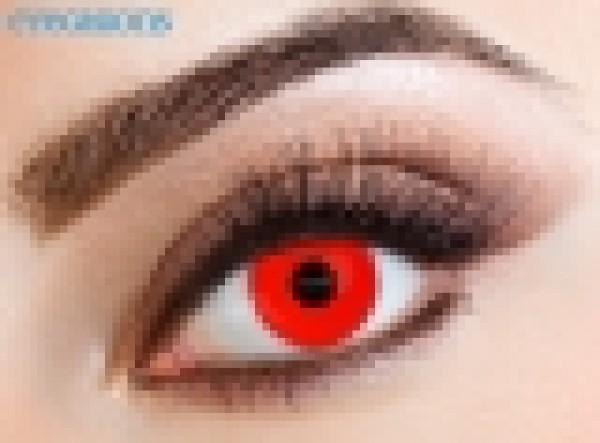 Eyecasions - Red Devil   mesačné + 60ml roztok + púzdro zadarmo