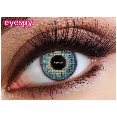 Eyespy -   Three  Tone Caribbean Blue   mesačné + 60ml roztok + púzdro zadarmo