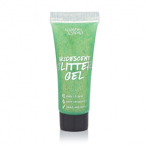 Glitrový gél na telo Splashes & Spills - zelený