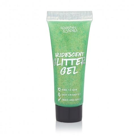 Glitteres gél a testre Splashes & Spills - zöld
