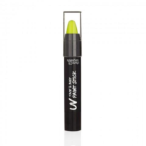 UV Farebná tyčinka na telo a tvár - žltá
