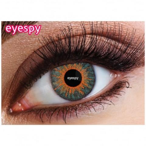 Eyespy - Three Tone Ocean Blue   mesačné + 60ml roztok + púzdro zadarmo