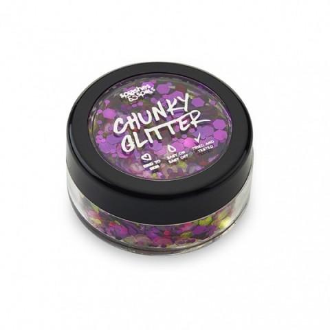 Chunky Glitter Splashes & Spills -  Purple