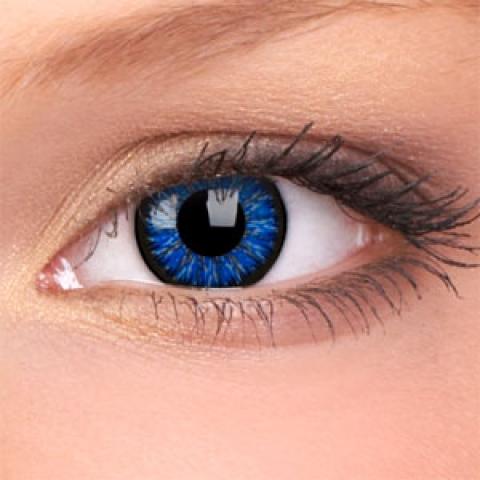 ColourVUE - Glamour Blue - dioptrické | štvrťročné - dioptria: -6.00, zakrivenie: 8.60, priemer: 14.00
