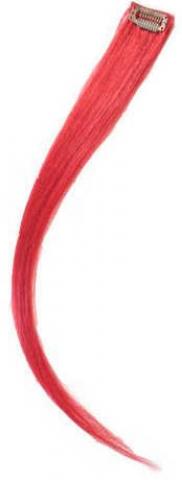 Barevný clip-in pramen ze živých vlasů - červený