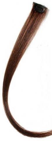 Farebný clip-in prameň zo živých vlasov - stredne hnedý