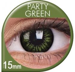 MaxVue Vision Big Eyes - Party Green | čtvrtletní 2 čočky - barevní čočky