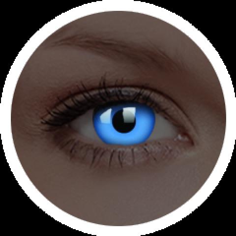 MaxVue Vision ColourVUE - Glow Blue | roční kontaktní čočky 2 čočky - crazy čočky