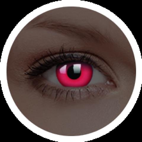 MaxVue Vision ColourVUE - Glow Red | roční kontaktní čočky 2 čočky - crazy čočky