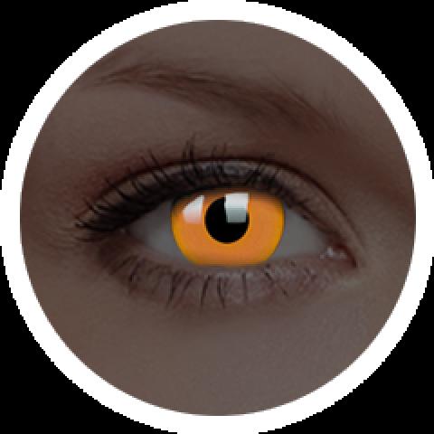 MaxVue Vision ColourVUE - Glow Orange | roční kontaktní čočky 2 čočky - crazy čočky