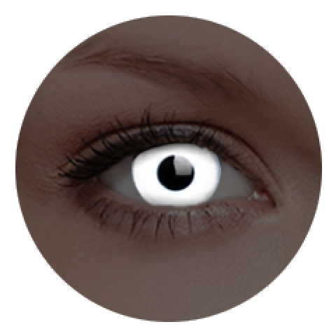 MaxVue Vision ColourVUE - Glow White | roční kontaktní čočky 2 čočky - crazy čočky