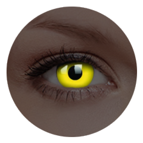 MaxVue Vision ColourVUE - Glow Yellow | roční kontaktní čočky 2 čočky - crazy čočky