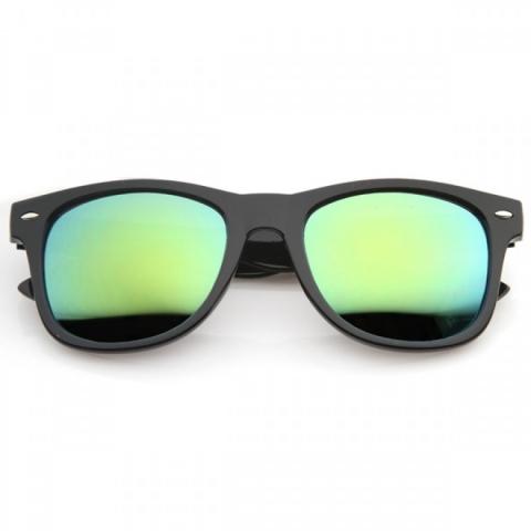 32c6b55bd Wayfarer style - zrkadlové zelené sklá - Slnečné Okuliare ...