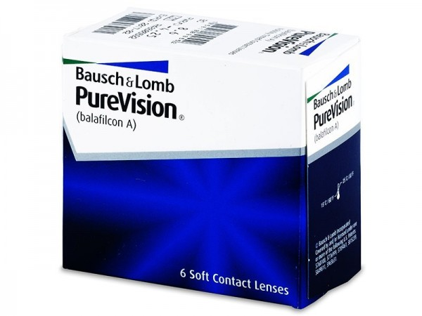 Bausch & Lomb PureVision kontinuální (6 čoček) - dioptrie: -7.50, zakřivení: 8.60;8.30, průměr: 14.00