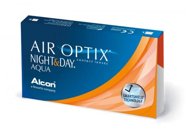 Ciba Vision Air Optix Night & Day Aqua | mésíční kontinuální (6 čoček) - dioptrie: -10.00, zakřivení: 8.40;8.60, průměr: 13.80