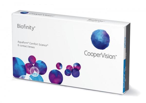 Cooper Vision Biofinity kontinuální (6 čoček) - dioptrie: 8.00, zakřivení: 8.60, průměr: 14.00