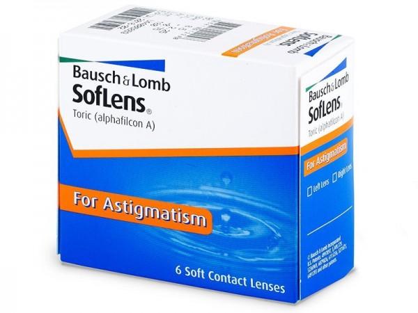 Bausch & Lomb Soflens Toric (6 čoček) - dioptrie: 6.00, zakřivení: 8.50, průměr: 14.50