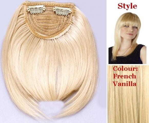 Clip-in ofina - klasická rovná - tmavá blond