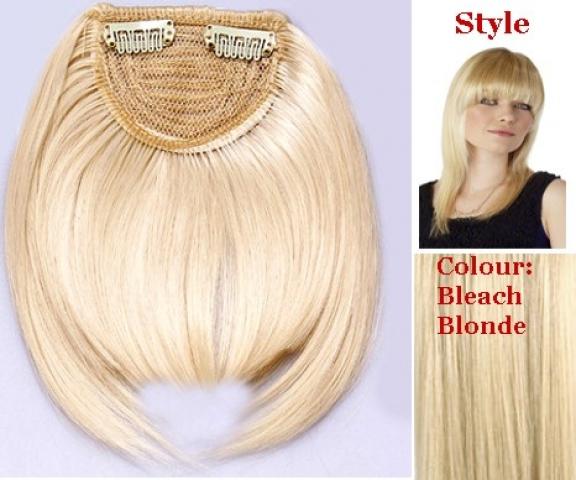 Clip-in klasická rovná ofina - platinová blond