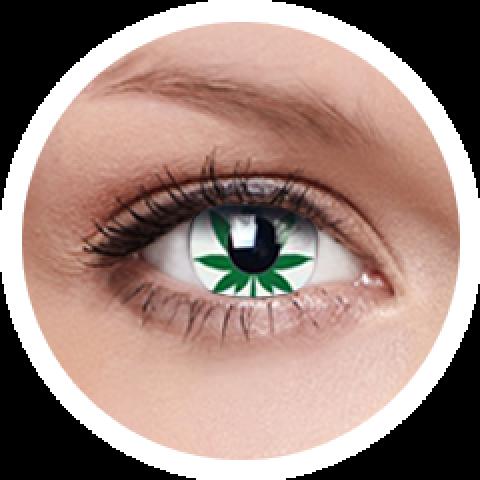 MaxVue Vision ColourVUE - Marijuana Leaf 2 čočky - crazy čočky