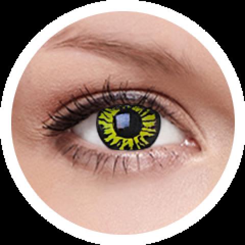 MaxVue Vision ColourVUE - Yellow Eclipse 2 čočky - crazy čočky