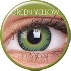 MaxVue Vision ColourVUE - Fusion - Green Yellow | čtvrtletní 2 čočky - barevní čočky