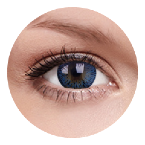 MaxVue Vision ColourVUE - Elegance Blue | čtvrtletní 2 čočky - barevní čočky