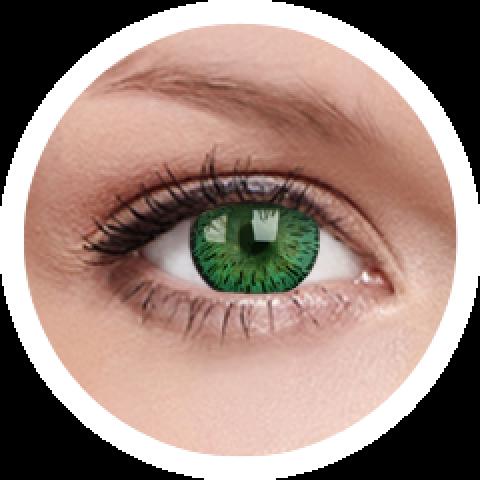 MaxVue Vision Elegance Green | čtvrtletní 2 čočky - barevní čočky