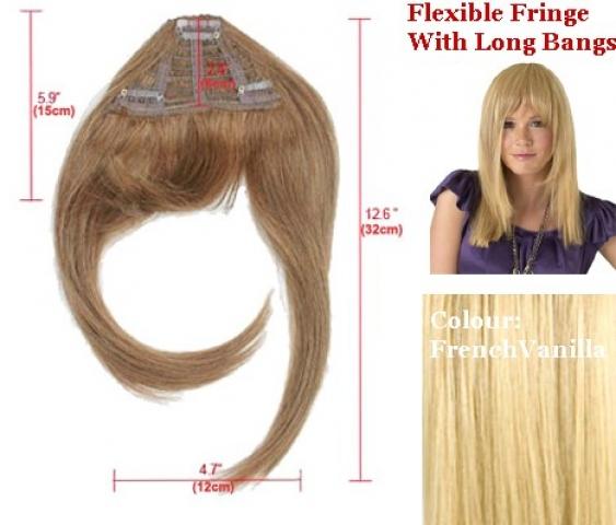 Clip-in ofina s dlouhými boky - platinová blond