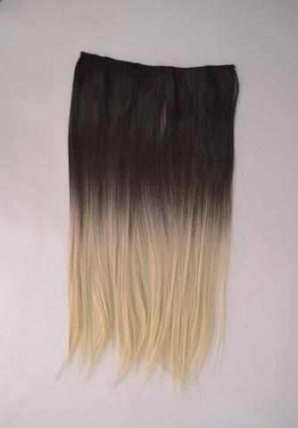 Clip-in umělé vlasy ombré - černo-plat.blond