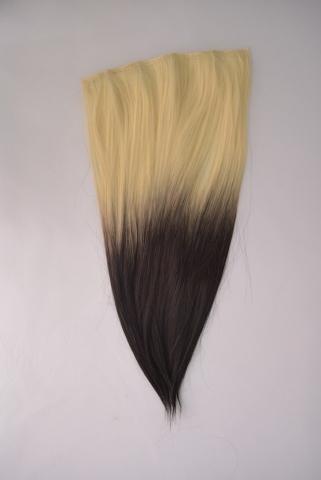 Clip-in umělé vlasy ombré - plat.blond - černé