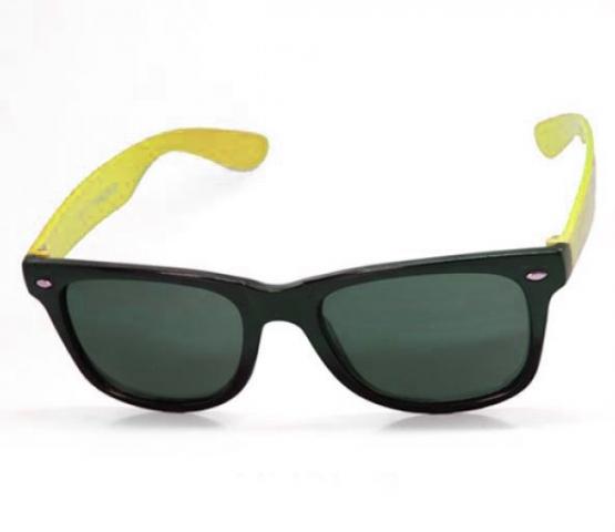 Sluneční brýle Wayfarer style - Black - Yellow