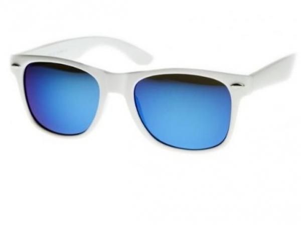 Sluneční brýle Wayfarer style - White Mirror