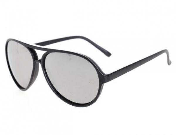 Slnečné okuliare - Aviator Style - Black matné zrkadlové