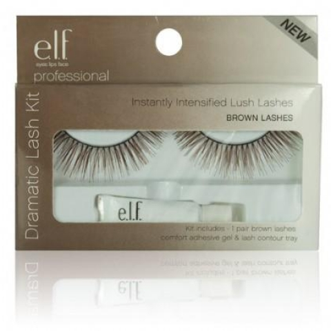 e.l.f. Essential Umelé riasy Natural - Brown intense lash