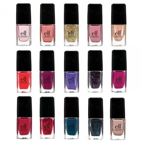 E.l.f Essential Laky na nehty 15ks - základní barvy