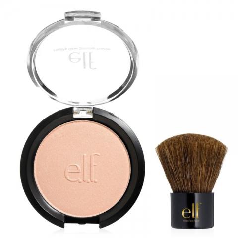 e.l.f. Essential Bronzér s mini kabuki štetcom