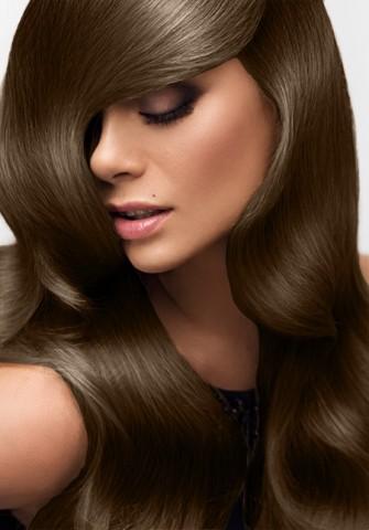 Clip-in vlasy deluxe - čokoládovo hnedé - 45 cm
