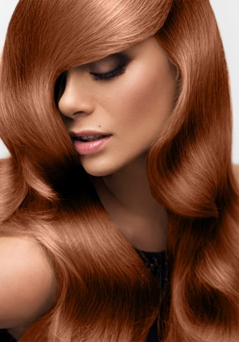 Clip-in vlasy deluxe - svetlá medená - 50 cm