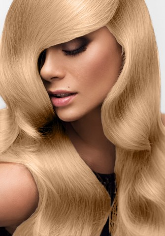 Clip-in vlasy deluxe - karamelová blond - 45 cm